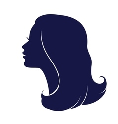 Woman face profile Female head silhouette vector image vector image