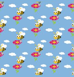 Working bee pattern vector