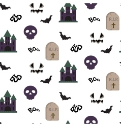 Cartoon spooky halloween seamless pattern vector
