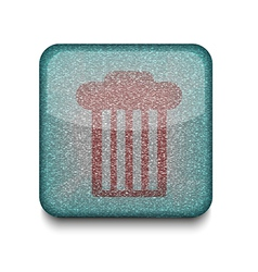 Rubbish bin icon vector
