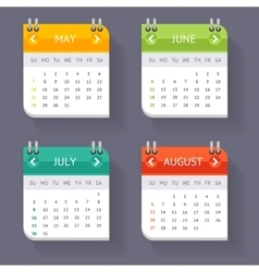 Calendar quarter month set vector