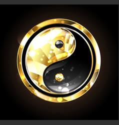 Jewelry yin yang symbol vector