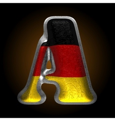 Germany metal figure a vector