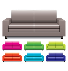 Set of sofas vector