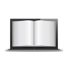 Magazine in Laptop vector image