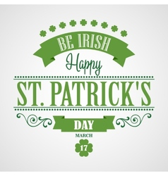 Happy saint patrick day card typographic with vector