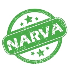 Narva green stamp vector