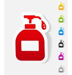 Realistic design element liquid soap vector