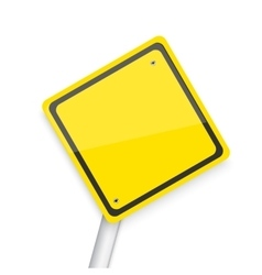 Road sign realistic eps10 yellow vector