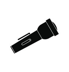 Flashlight black simple icon vector