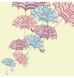cute umbrellas vector image