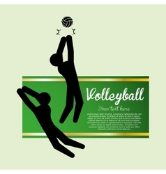 Volleyball design sport icon isolated vector