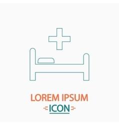Hospital bed computer symbol vector