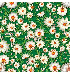 abstract white seamless floral ornament and vector image vector image