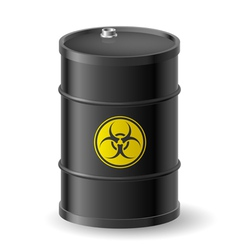 Biohazard barrel vector image