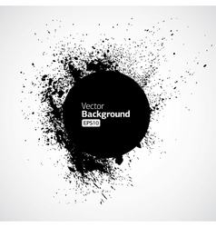 Black grunge ink splat shapes vector image