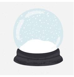Bright of hand drawn snow globe vector