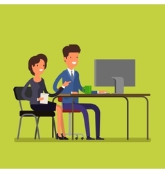 Business concept cartoon man and woman vector