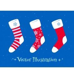 Christmas socks set vector