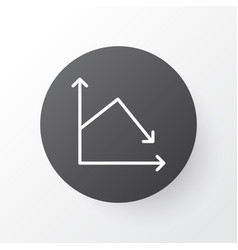 decrease icon symbol premium quality isolated vector image