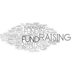 fund-raising word cloud concept vector image