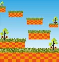 Game level landscape background vector image
