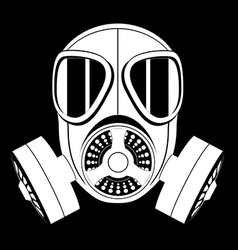 Gas mask black and white 04 vector