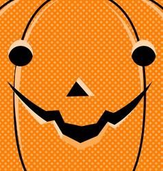 Halloween Pumpkin Card vector image vector image