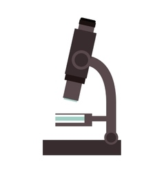 Isolated microscope design vector image
