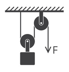 Loaded movable pulleys vector