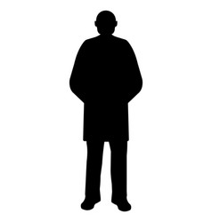 man silhouette on white background vector image vector image