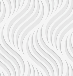 Paper cut out wavy leaves on gray vector