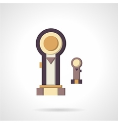 Pistons flat color icon vector