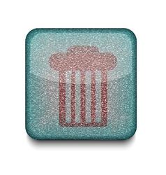 Rubbish bin icon vector