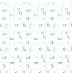 seamless pattern of different arrows on vector image