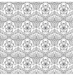 seamless pattern with ornamental flowers vector image