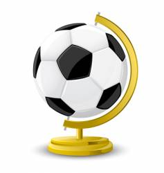 soccer globe vector image vector image
