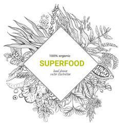 superfood rhombus banner iilutstration vector image vector image