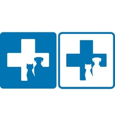 veterinary symbol vector image vector image