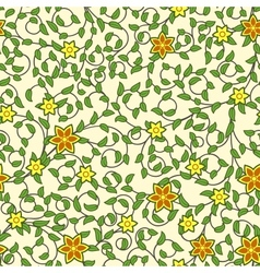 Vintage seamless pattern of weaving flowers vector image vector image