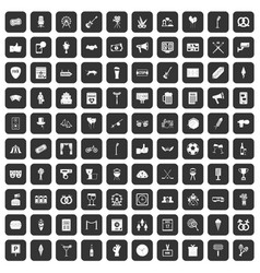 100 events icons set black vector