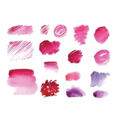 Handmade watercolor texture collection of pink vector