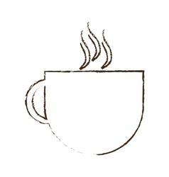 sketch draw cup coffee tea chocolate vector image