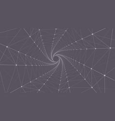 triangle spiral background design vector image