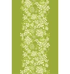 Green underwater plants vertical seamless pattern vector
