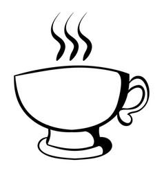cup of coffee or tea icon cartoon vector image