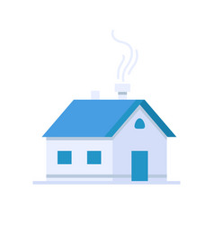 House icon in flat style design vector