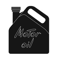 Can of engine oilcar single icon in black style vector