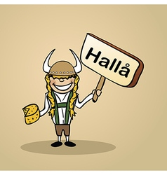 Hello from sweden people vector image