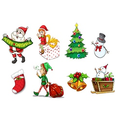 Designs showing the spirit of christmas vector